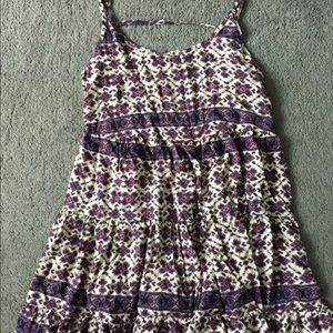 Brandy Melville Dresses & Skirts - brandy jada purple and white flower print dress!