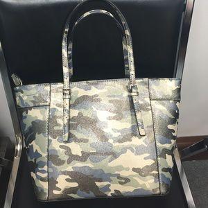 Guess Delaney Camouflage Tote Handbag Boutique