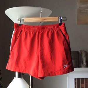 Red Nike shorts XS