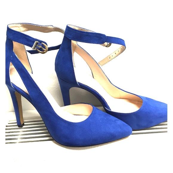 0dbe437618 New York & Company Shoes | 4 Royal Blue Strappy Heels | Poshmark