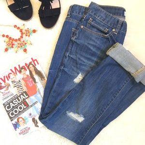 Charlotte Russe Denim - Slouchy Slim Distressed Jeans