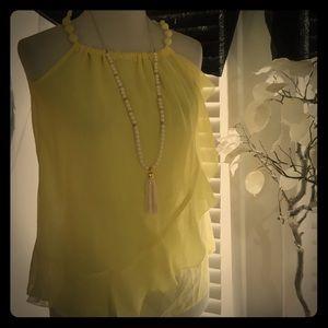 Ya Los Angeles Tops - YA Los Angeles Yellow silk top