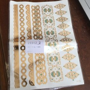 Other - Summer gold and turquoise Metallic tattoos