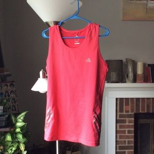 Adidas clima lite sleeveless top w/buttons