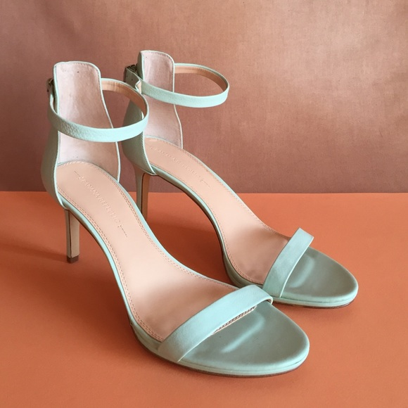 6db12592f1 Banana Republic Shoes - NEW Mint green leather Banana Republic heels