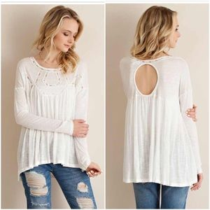 Tops - 🆕LISTING! NWT Cream Embroidery Top