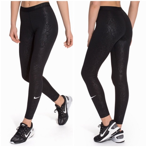 dd7053144ddf9 Nike Pants | Pro Warm Embossed Height Vixen Printed Tights | Poshmark
