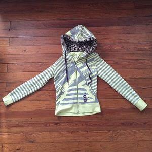 Nollie hoodie with faux fur hood