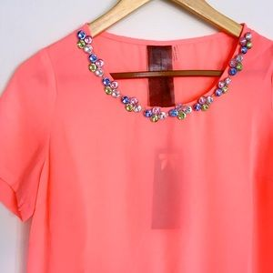 HP!Moon Collection Jewel Neck Embellished Top
