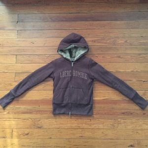 Abercrombie & Fitch faux fur hoodie