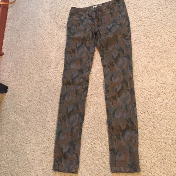 72% off Free People Pants - Free people camo corduroy pants from ...