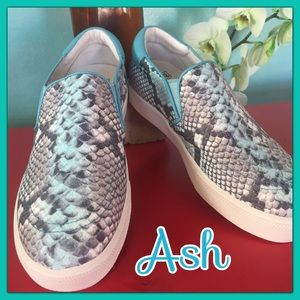 "Ash Shoes - 🌸 Luscious Embossed 1"" platform Leather sneaker🌸"
