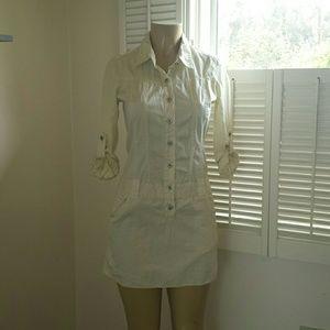 SHOPBOP Joie   cream button shirt  dress small/4