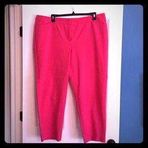 Sejour Pants - Sejour HOT PINK ankle length pants