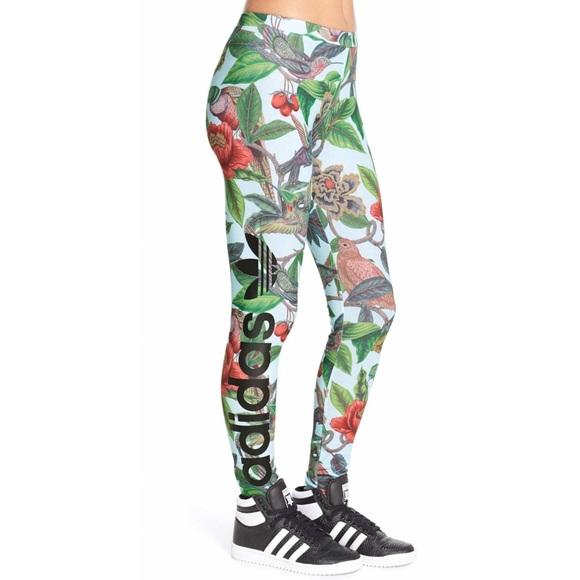 8539b75b58a Adidas Pants | Florera Battle Of The Birds Floral Leggings | Poshmark