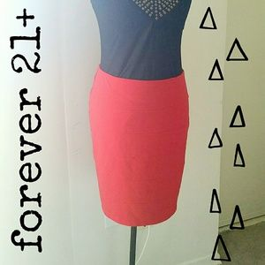 Forever 21 Dresses & Skirts - 💗 Red Fitted Skirt