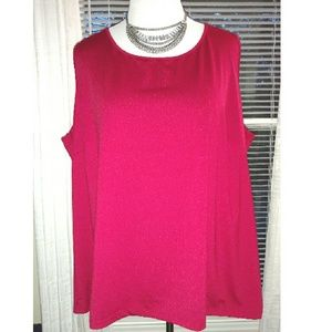 Catherines Tops - Red Sleeveless Top