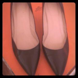 J.Crew Valentina kitten black heels size 8 for sale