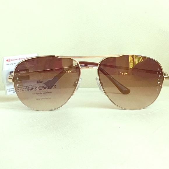 d93351536ba NWT Juicy Couture Rhinestone Aviator Sunglasses