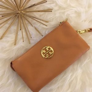 replica hermes wallet - 42% off Tory Burch Handbags - Tan Tory Burch Wristlet from Emily's ...