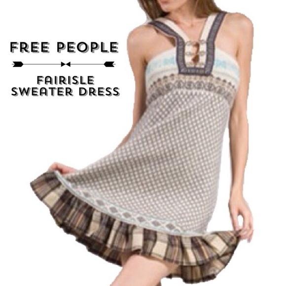 73% off Free People Dresses & Skirts - Free People Fairisle ...
