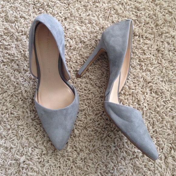 474ad6fc4341 Banana Republic Shoes - Gray Suede D orsay Banana Republic Heel