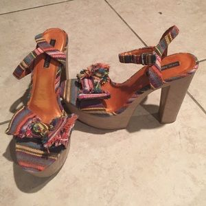 Shoes - Multicolor Heeled Sandals