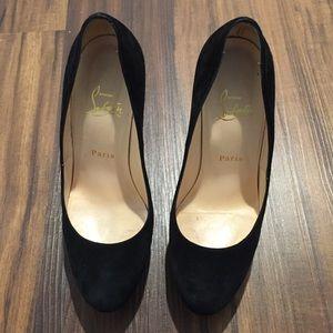 84d69a8912c Christian Louboutin Shoes - Authentic Louboutin Bibi 140 Black Suede Pumps