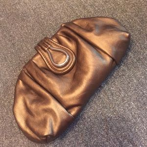 NINE WEST Bronze Clutch purse