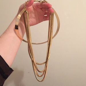 Gold statement necklace Charlotte Russe