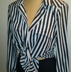 Tops - Vintage striped blouse.
