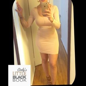 😳 Nude Bodycon Dress 😳