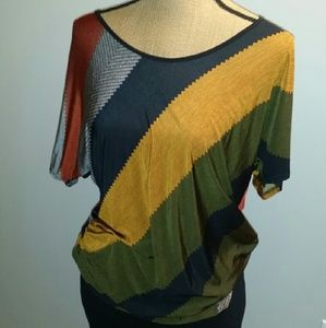 Tops - Multi color blouse.