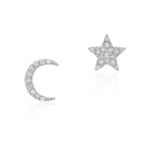 ed144e02f Liven Co Jewelry | Diamond Star Moon Earrings 14k White Gold | Poshmark