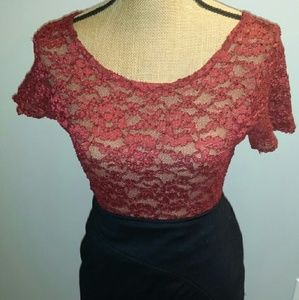 Tops - Victoria Secret Sexy Maroon lace top