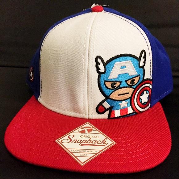 Marvel Avengers Captain America Snapback Hat Cap b83f11e7030