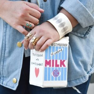 Lactose Free Milk Carton Clutch Crossbody