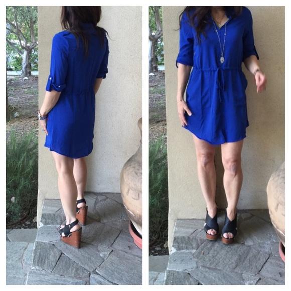 a3208df08e Dresses   Skirts - Royal blue shirt dress
