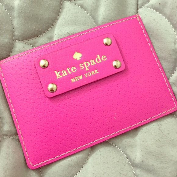 new arrival 7f881 c7a56 Kate Spade - Hot Pink Card Holder