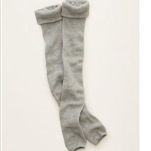 aerie Accessories - New Aerie Gray Ribbed Knit Leg Warmers