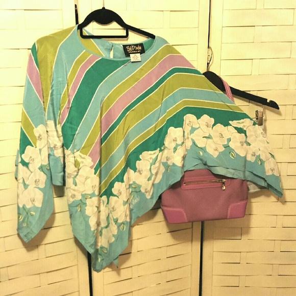 bob mackie bob mackie silk scarf top from s