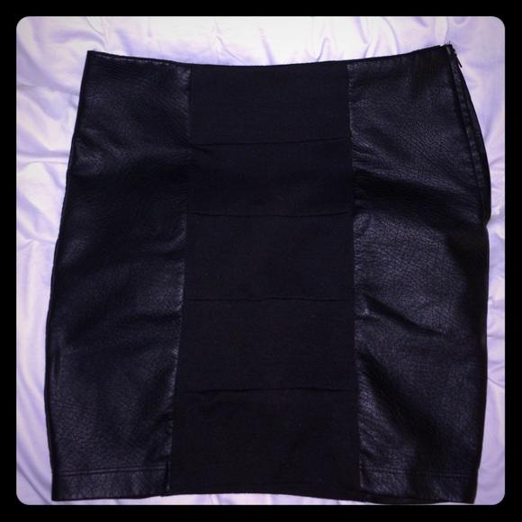56 a byer dresses skirts black pleather spandex