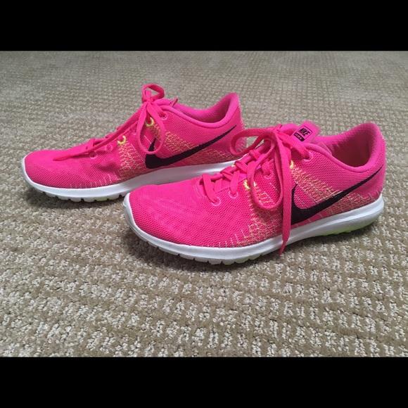 Nike Flex Fury Hot Pink Running Shoes
