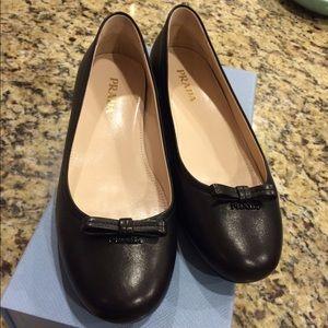 Brand New Prada Leather Flats 24hour