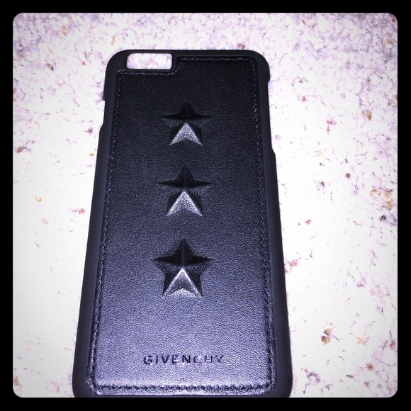 best service 46be4 e13fd Givenchy style black star iPhone 6 s plus case