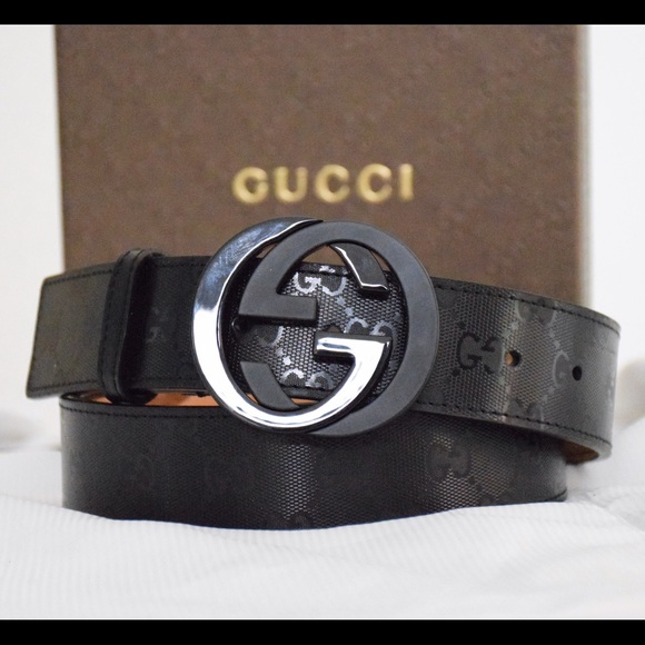 df13e9f4f Gucci Accessories | Authentic Gg Imprime Shiny Belt Mens 3236 | Poshmark
