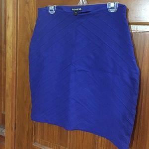 Express Blue Criss Cross Stitch Skirt
