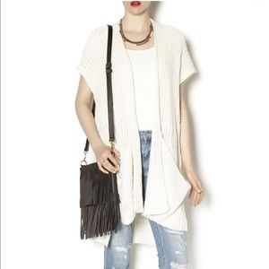 Free People Sloppy Pocket Cardigan in cream