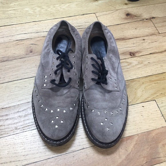 Marni Suede Studded Oxfords cheap footlocker finishline sale official site order cheap price T1XvTs2jc0