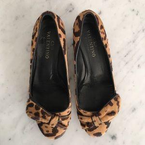 fe6af60a618 Valentino Shoes - Valentino Pony Hair Cheetah Kitten Heels